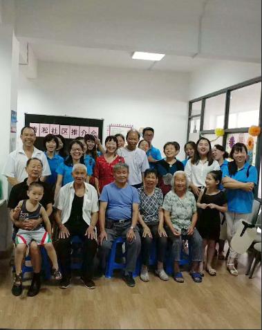 工具柜厂家天金冈携全体员工慰问社区老人并演出