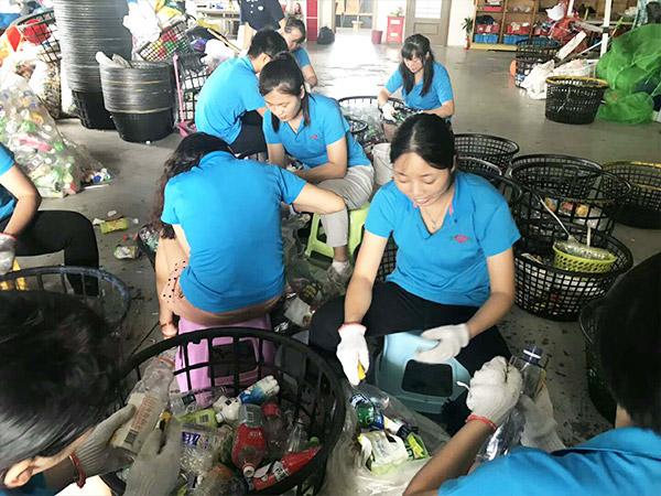车间工具柜厂家天金冈参与垃圾分类
