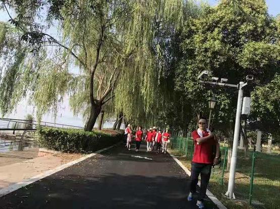 天金冈头顶烈日,阳澄湖徒步30公里