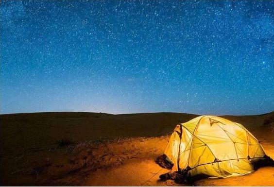 戈壁浩瀚的星空