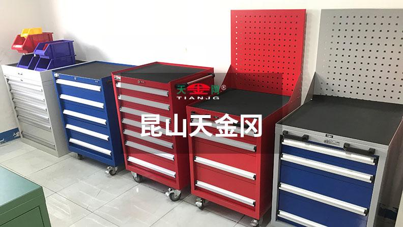 好的车间工具柜抽屉滑轨壁板厚,做工精细,经久耐用!